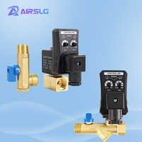 Válvula Solenoide de drenaje electrónico para compresor de aire, temporizador eléctrico automático de 1/2 pulgadas, DN15, AC220V, DC24V