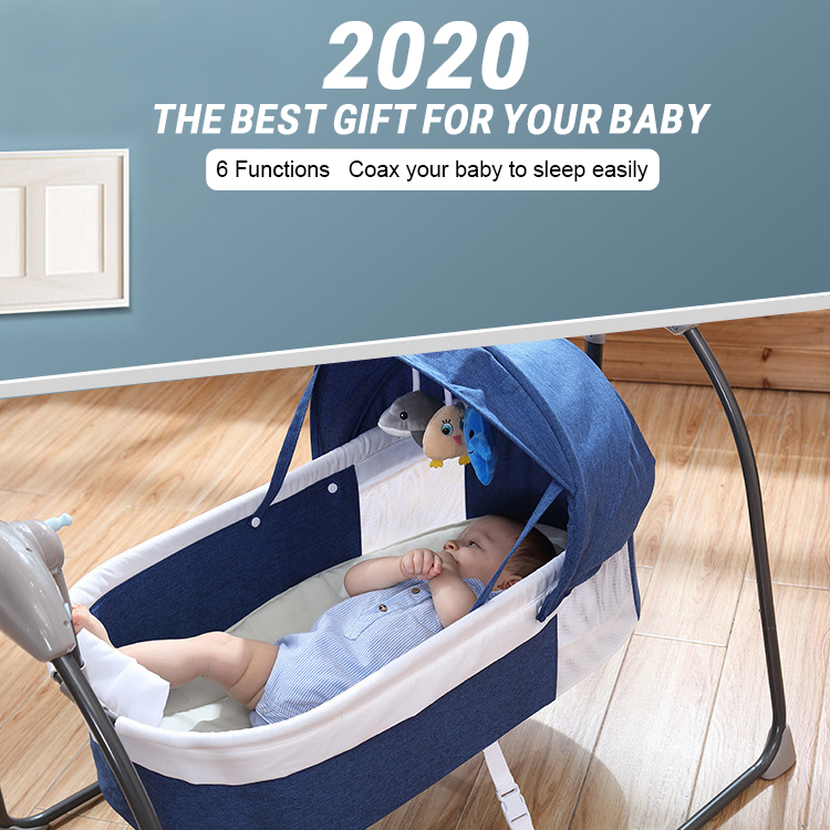 H74c5755a4ddf4bf5b58ba535c8bce03ay Bluetooth Control Swing Baby Rocking Chair Electric Baby Cradle Remote Control Cradle Rocking Chair For Newborns Swing Chair