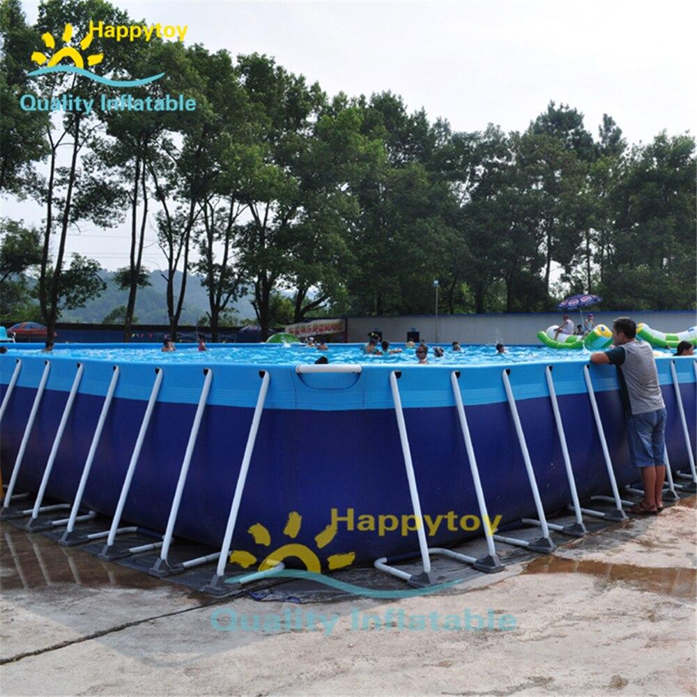 Easy Set Up Steel Frame Hard Plastic Pvc Swimming Pools Above Ground Pool