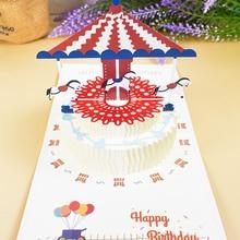 3D всплывающие открытки, открытка на день рождения для девочки, дети, жена, муж, день рождения, торт, открытки, подарки, открытка с наклейки на ...