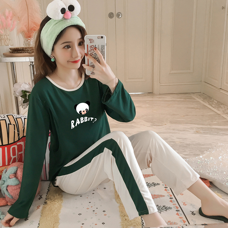 Pregnant Women Confinement Clothing Double Long Japanese Korean Hoodie WOMEN'S Dress Maternal Pajamas Maternal Lactation Garment