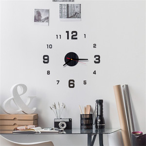 2019 Free Shipping New Clock Watch Wall Clocks 3d Diy Roman Numbers Acrylic Mirror Stickers Home Decoration Living Room 1018
