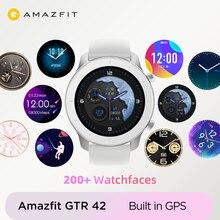 In Magazzino Globale Versione Amazfit GTR 42 millimetri orologi da donna 5ATM Smartwatch 12 Giorni Batteria GPS di Controllo di Musica di Per android IOS phone