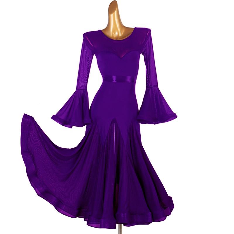 2020 Ballroom Dance Competition Dresses Women Standard Dance Dresses Spandex Ballroom Dance Dresses Standard Latin Dress