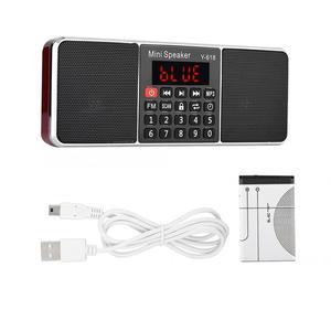 Image 1 - Stereo Auto Digital FM Radio Media Lautsprecher Mp3 Musik Player Unterstützung Speicher Karte USB Stick Mit Led bildschirm Display Timer funktion