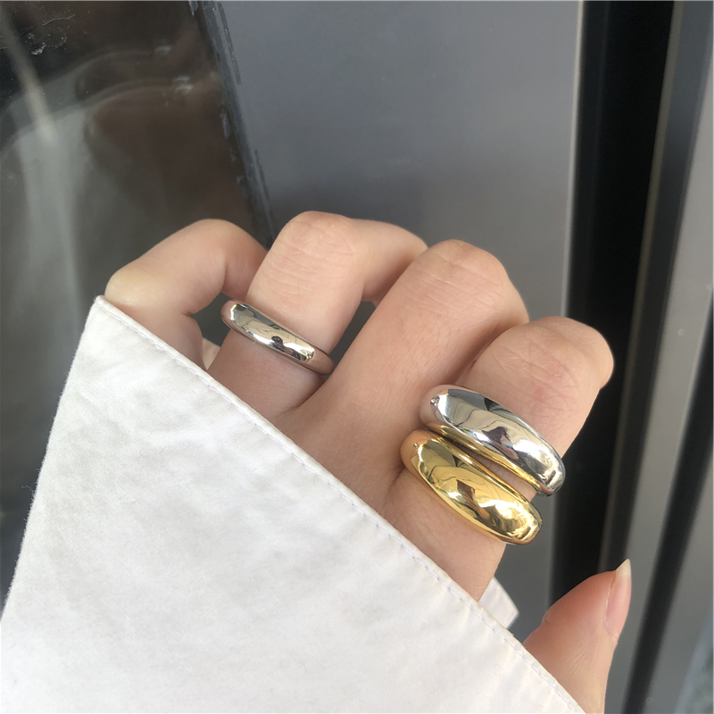 HUANZHI-2020-New-Trendy-Personality-Vintage-Simple-Glossy-Wide-Version-Opening-Adjustable-Rings-for-Women-l (1)