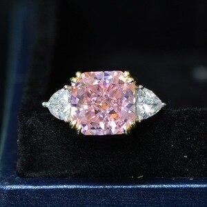 Image 5 - Роскошное обручальное кольцо для женщин, квадратное кольцо AAAAA + с кристаллом из циркония, романтическое свадебное женское кольцо, вечерние Подарочные Кольца для девушки