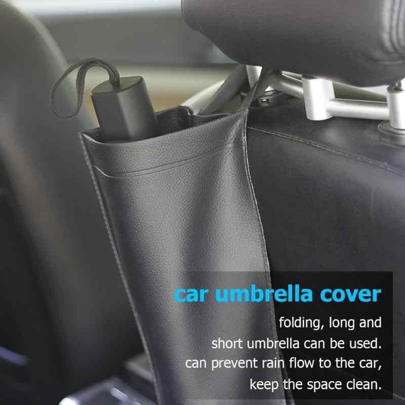 Uniwersalny syntetyczny samochód oparcie siedzenia torba na parasol pojemnik na rozmaitości sztuczny skórzany design modna funkcja