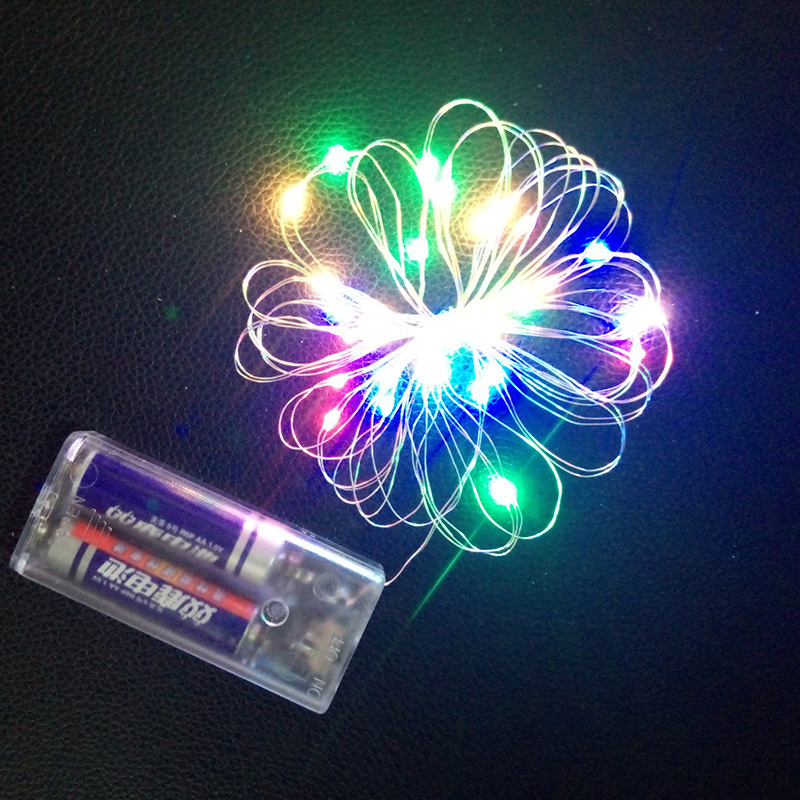Led Lights Copper Wire String Battery Box Christmas Decoration Ball Light Copper String Light String Constant Light Or Flashing