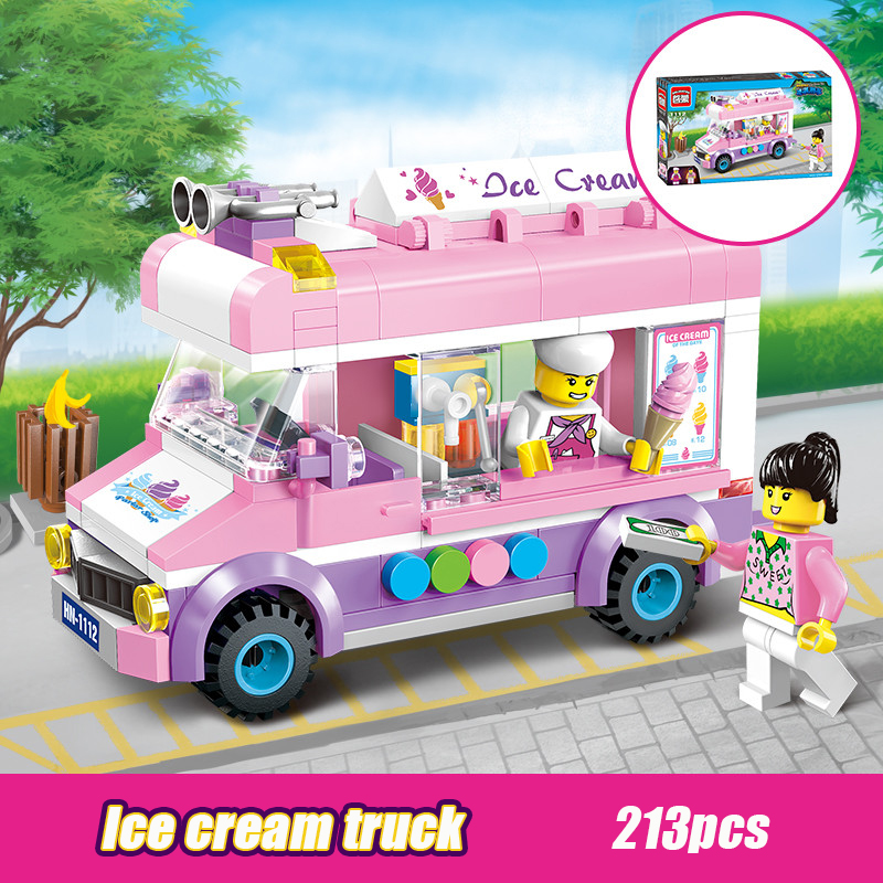 1112 213pcs Girl's Dream Town Constructor Model Kit Blocks Bricks Toys For Boys Girls Children Compatible With Legoinglys City