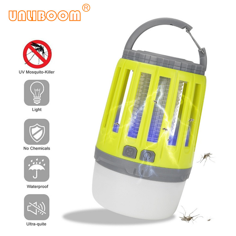 IP67 Waterproof Anti Mosquito Electric Insect Killer Lamp USB Rechareable LED Night Light Fly Bug Trap Killer Zapper Pest