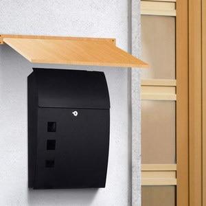 Image 4 - ヨーロッパヴィラレターボックス屋外防雨メールボックス壁掛け農村クリエイティブレターボックス妖精ガーデン新聞ボックスの装飾