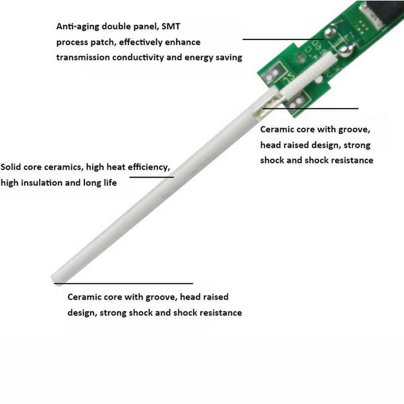 60 w 110 v 220 v ferro de solda elétrica temperatura ajustável solda estação de retrabalho ferramenta de reparo de solda a lápis de calor
