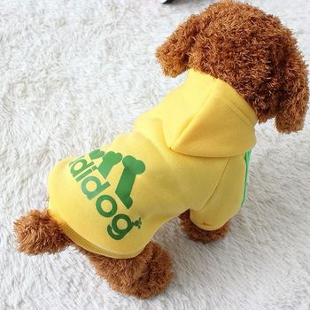 Dog clothes adidog 2020 new winter Pet clothes small and medium-sized dog Hoodies puppy clothing Sweatshirt for dogs 6