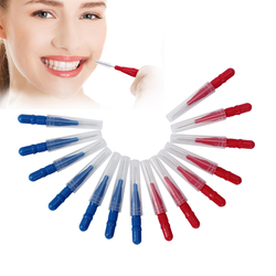 AZDENT 15 pcs/pack Orthodontic Wire Brush Toothbrush Push-Pull Interdental Gum Brush 0.7mm Oral Care Toothpick Tooth Whitening