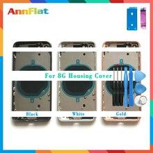 Aaa de alta qualidade para o iphone 8 8g/8 plus 8 plus/x habitação capa da bateria porta traseira chassis quadro médio com vidro + ferramenta