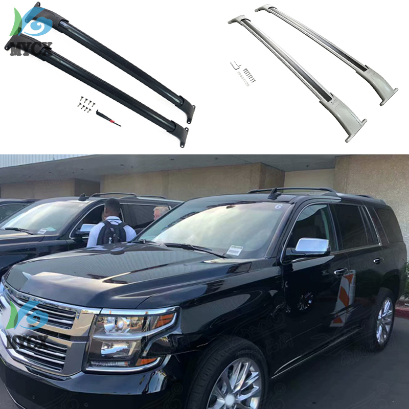 hottest roof rack rail luggage bar cross bar match for chevrolet tahoe 2015 2019 aluminum alloy abs iso9001 quality verification
