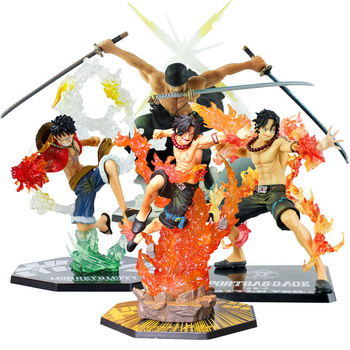 One Piece figurine Luffy Ace Roronoa Zoro Fierce battle ver. PVC Action Figure Collection Model Toys doll for kids 13-21cm japanese anime one piece roronoa zoro prisoner ver pvc action figure toys roronoa zoro figure decoration model toys kid gift