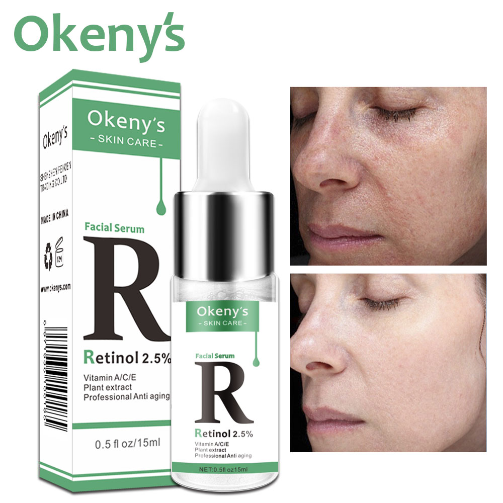 Retinol 2.5% Vitamin C / A Facial Anti Wrinkle Serum Remove Dark Spots Collagen Serum Anti Aging Essence Whitening Face Serum