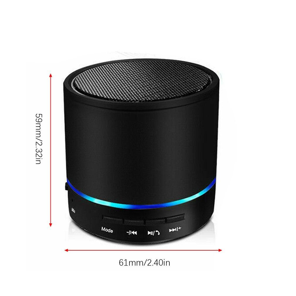 Портативный беспроводной мини-динамик с микрофоном, громкий динамик, светодиодный, тяжелый бас, стерео, музыкальные плееры, звуковая коробка, динамик