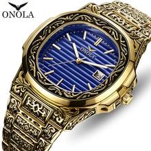 Top Brand ONOLA Men Analog Quartz Watch Mens Fashion Luxury