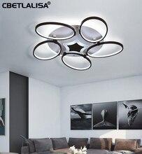 Modern led chandelier for living room, bedroom, kitchen, 2/4, remote control, ceiling chandelier