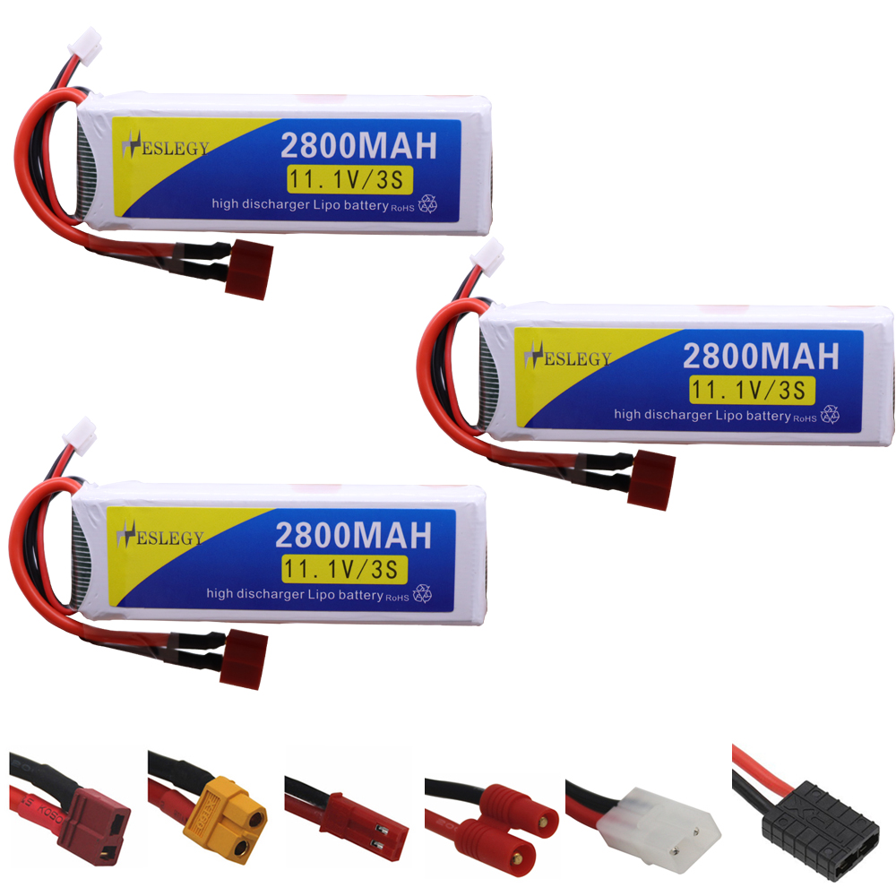 3PCS Upgrade 11.1v 2800maH <font><b>Lipo</b></font> Batterry For RC Quodcopter Cars Boats Drone Spare Parts <font><b>3S</b></font> <font><b>2200</b></font> <font><b>mah</b></font> 11.1 V Battery T/banana Plug image