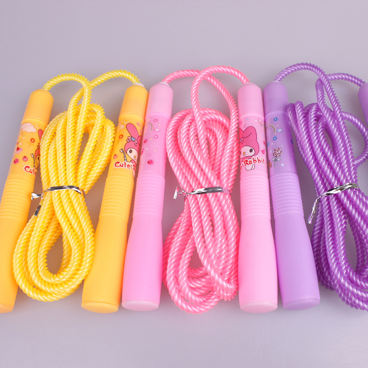 Color Only Jump Rope Adjustable Children Plastic Primary School Jump Rope Adjustable Braided Rope Plastic Toy
