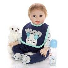 55CM reborn boy Baby education simulation doll Silicone and cloth Bebe Reborn Doll Kids girls Birthday Christmas Gift plush toy цены