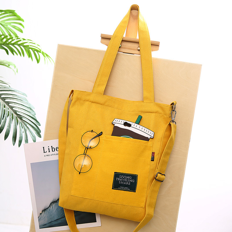 Women Corduroy Canvas Tote Ladies Casual Shoulder Bag Foldable Shopping Bags Beach Bag Cotton Cloth Female Handbag