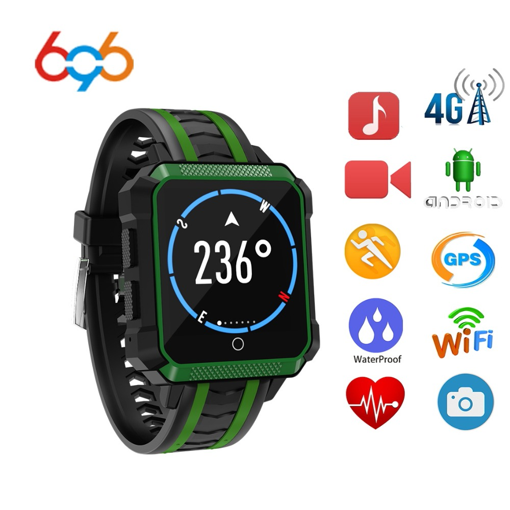 696 H7 Sports GPS <font><b>Watch</b></font> Android 4G LTE SIM Card Smart <font><b>Watch</b></font> IP68 With Camera Heart Rate Monitor Wifi bluetooth <font><b>BT</b></font> Smartwatch Men image