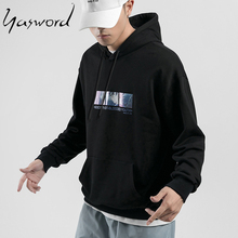 Yasword Spring Autumn Cartoon Print Casual Hoodies Men Sportswear Male Pullover Sweatshirt Tops Long Sleeves