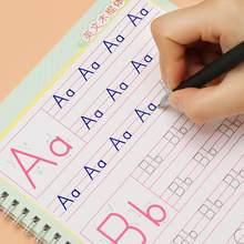 Детский Английский алфавит тетрадь для практики Алфавит письменной форме книги с надписью и выгодно отличается от обычных однотонных веще...