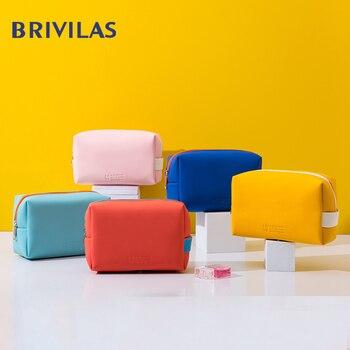 Brivilas mini toiletry bag women makeup waterproof portable travel storage wash fashion tote cosmetic female pink - discount item  29% OFF Special Purpose Bags