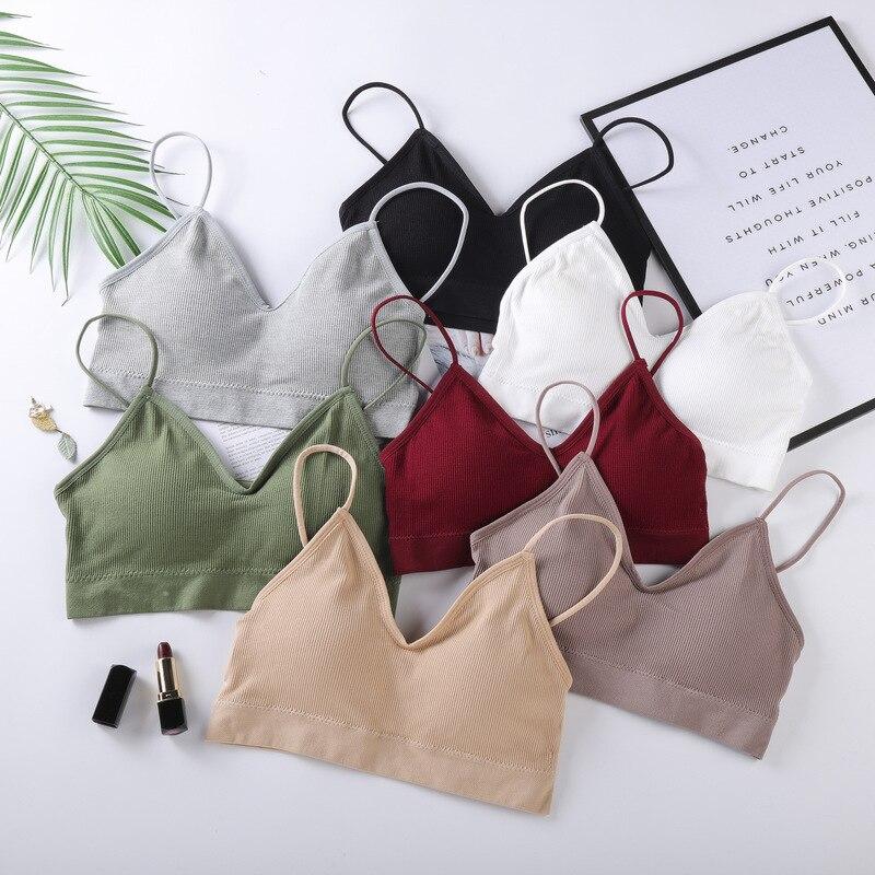Women Push Up Padded Underwear Wireless Bra Tops Bralette Sexy Lingerie Strap Bras