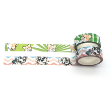 2pcs/lot Pet Dog Corgi Husky Scrapbooking Stickers Daily Handbook Diary DIY Decorative Sticker Paper Customized Tape D11