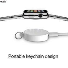 Magnético carregador sem fio para apple watch 1 2 3 4 5 series relógio inteligente portátil carregador sem fio usb de carregamento de energia para iwatch