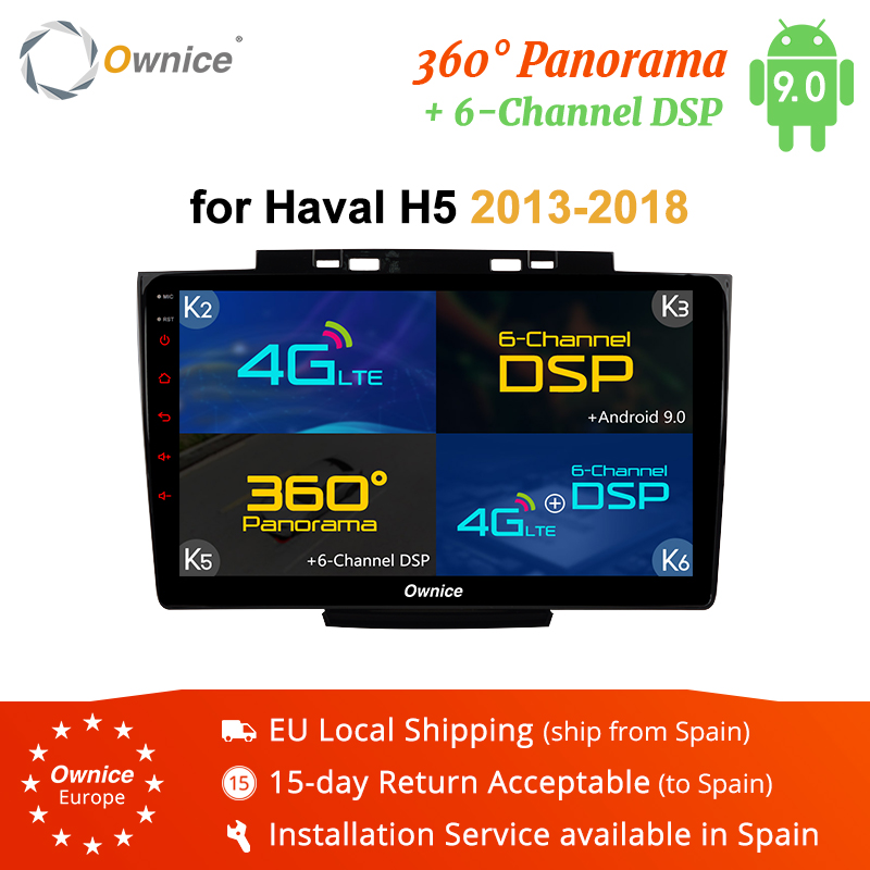 Ownice K3 K5 K6 Android 8.1 Car DVD Player GPS For Great Wall Haval Hover H5 H3 2013 - 2018 Audio Car Radio 360 Panorama DSP 4G