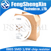 5000 шт./лот 0805 SMD 1/8 Вт резистор 0R ~ 10 м 1/2 Вт 0 1 10 100 150 220 330 Ом 1K 2,2 K 10K 100K 0R 1R 10R 100R 150R 220R 330R