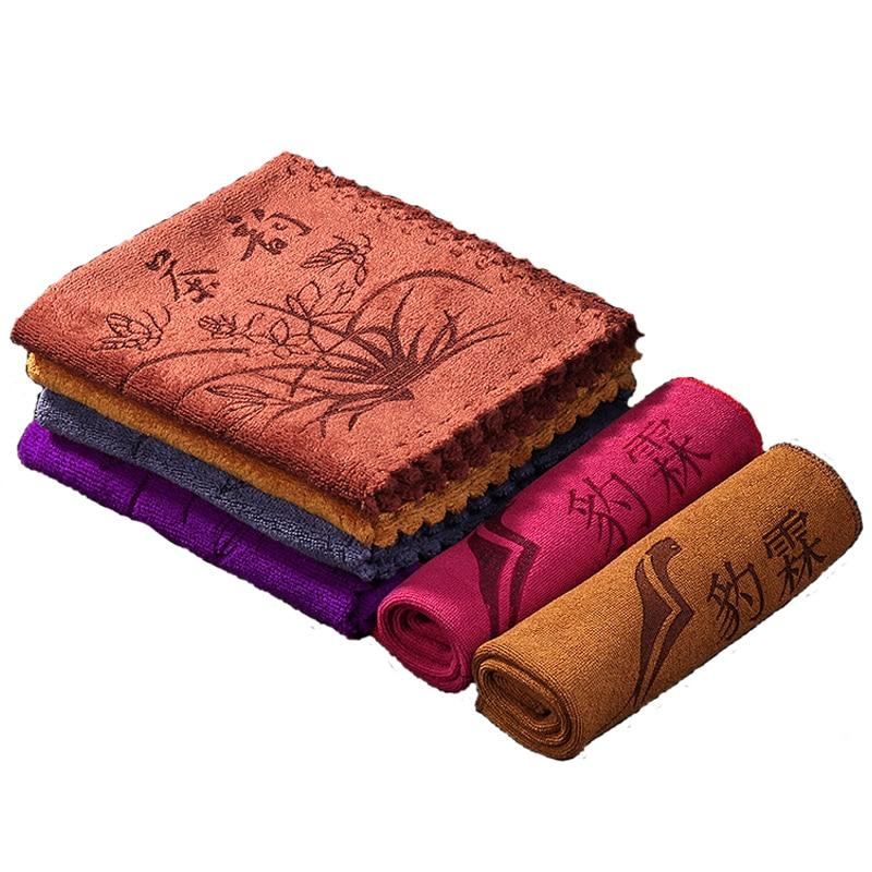 Absorbent Tea Cloth Tablecloth Tea Mat Thick Fiber Cotton Towel Tea Tablecloth Kung Fu Tea Set Tea Ceremony Accessories