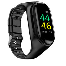 New Arrival TWS Bluetooth Headset Heart Rate Blood Pressure Smart Bracelet Touch Color Screen Smartwatch TWS Headphones(China)