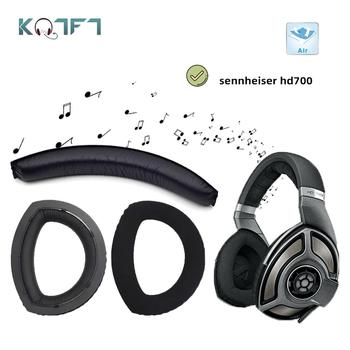 KQTFT Velvet Replacement EarPads Headband for sennheiser hd700 HD 700 Headset Universal Bumper Earmuff Cover Cushion