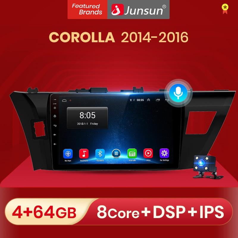 Junsun 2G + 32G Android 10,0 автомобильный Радио Мультимедиа Видео Аудио плеер навигация GPS для Toyota Corolla E170 E180 2014-2016 no 2din