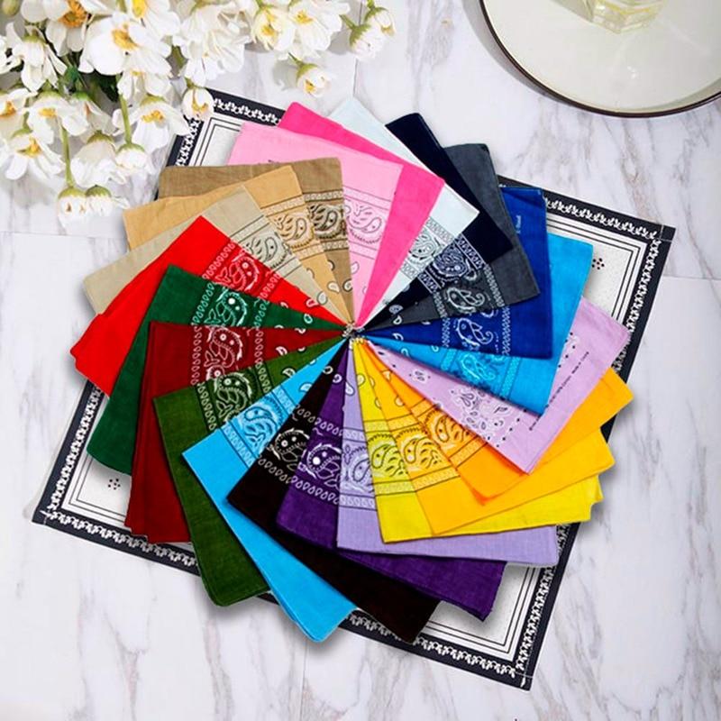 Smooth Silk Pockets Square Handkerchiefs Multi-function Hankies Handmade DIY Cloth Face Mask Hanky Print Towels