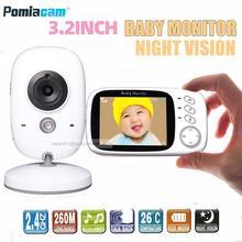 Niania elektroniczna baby monitor VB603 wysokiej rozdzielczości niani kamera ochrony domofon opiekunka do dziecka 2.4GHz bezprzewodowy Monitor kolorowy niania elektroniczna Baby monitor