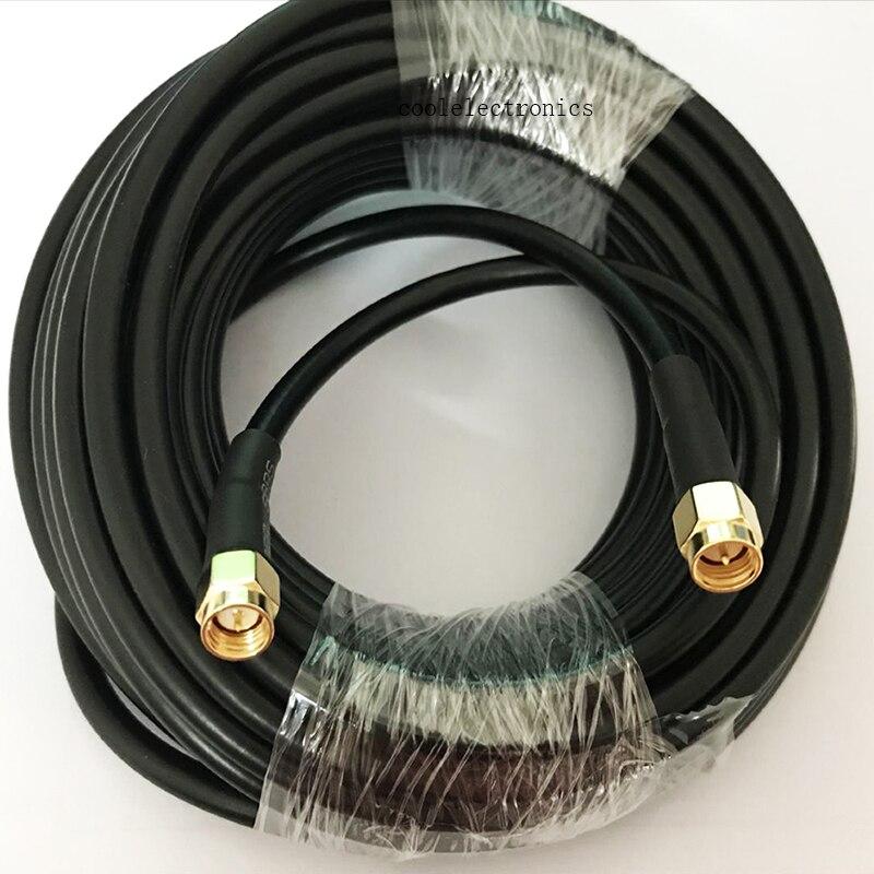 Rg58 sma macho ao cabo coaxial wifi da trança do conector da tomada sma 1/2/3/5m 10m 15 m 20 m 30 m