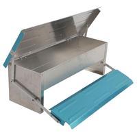 Automatic Chicken Feeder Treadle Self Open Aluminum Feeder Feeding Trough