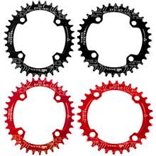 Redondo/oval 104bcd estreito largo chainring mtb mountain bike bicicleta 104bcd 32t 34t 36t 38t peças da placa do dente