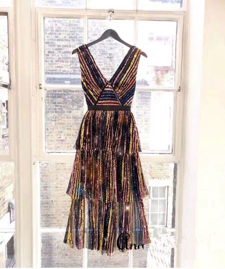 2019 nouvelle arrivée robe de femmes pailletées