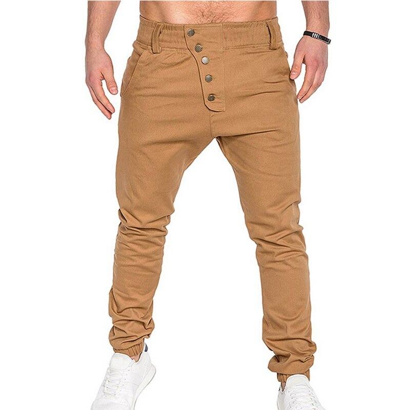 2019 New Autumn Joggers Trousers Men Fashion Pants Casual Buttons Joggers Cargo Qunique Design Mens Tranning Sweatpants